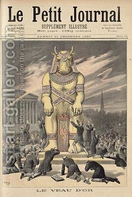The Golden Calf from Le Petit Journal 31st December 1892 by Henri Meyer - Reproduction Oil Painting