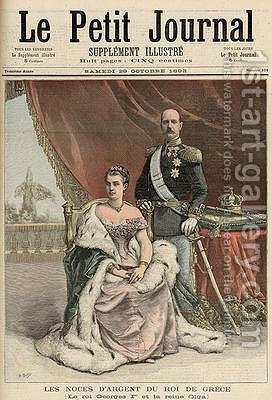 The Silver Wedding Anniversary of the King of Greece from Le Petit Journal 29th October 1892 by Henri Meyer - Reproduction Oil Painting