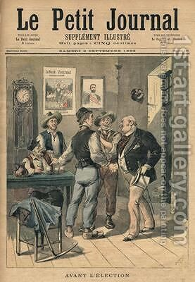 Before the election illustration from Le Petit Journal Supplement Illustre 2nd September 1893 by Henri Meyer - Reproduction Oil Painting