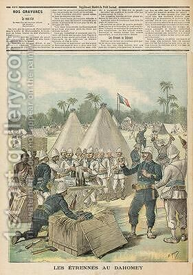 New Years Boxes in Dahomey from Le Petit Journal 31st December 1892 by Henri Meyer - Reproduction Oil Painting
