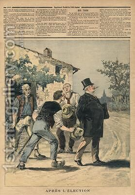 After the election illustration from Le Petit Journal Supplement Illustre 2nd September 1893 by Henri Meyer - Reproduction Oil Painting