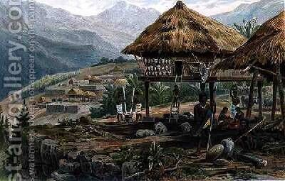 Igorrote farm in Luzon Philippines from The History of Mankind Vol.1 by (after) Meyer, Hans - Reproduction Oil Painting