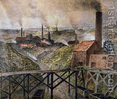 In the Black Country 1890 by Constantin Meunier - Reproduction Oil Painting