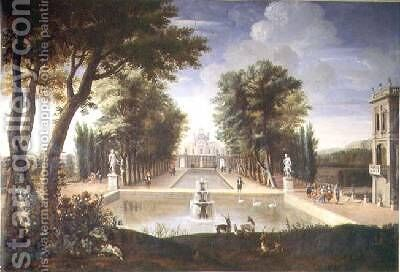View of a Palace by Adam Frans van der Meulen - Reproduction Oil Painting