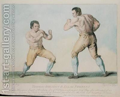 Boxing Match Between Thomas Johnson and Isaac Perrins by Conrad Martin Metz - Reproduction Oil Painting