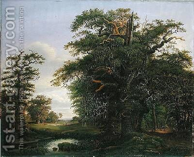 Oak Wood 1847 by David Christopher Mettlerkamp - Reproduction Oil Painting