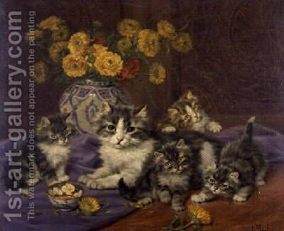 A Proud Mother by Daniel Merlin - Reproduction Oil Painting