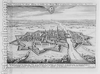 View of Elbing in 1626 fortified by the protestant Swedes  from Theatrum Europaeum by Matthäus the Elder Merian - Reproduction Oil Painting