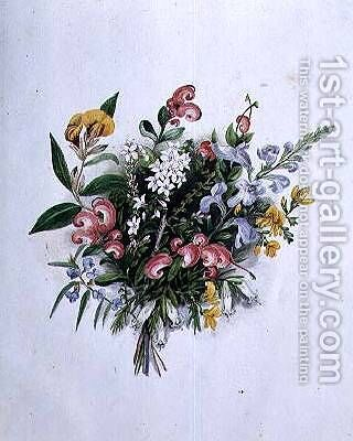 Posy of Summer Flowers by Caroline Louisa Meredith - Reproduction Oil Painting