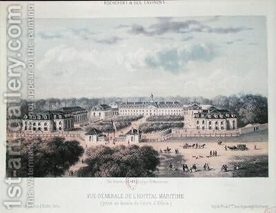 General View of the Maritime Hospital in Rochefort by Charles Mercereau - Reproduction Oil Painting