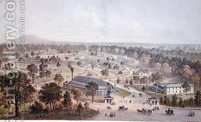 The Jardin dAcclimatation in the Bois de Boulogne 2nd half 19th century by Charles Mercereau - Reproduction Oil Painting