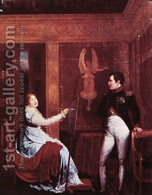 Marie Louise Painting the Emperor by Alexandre Menjaud - Reproduction Oil Painting