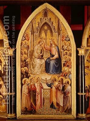 The Coronation of the Virgin and Other Scenes 1367 by Giusto di Giovanni de' Menabuoi - Reproduction Oil Painting