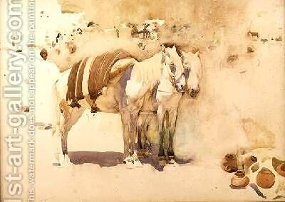 The White Mules by Arthur Melville - Reproduction Oil Painting
