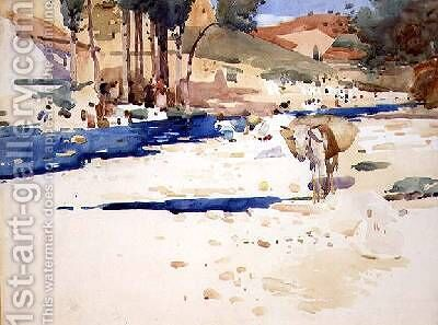 Washerwomen on the Darro by Arthur Melville - Reproduction Oil Painting