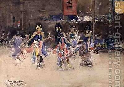 The Javanese Dancers 1889 by Arthur Melville - Reproduction Oil Painting