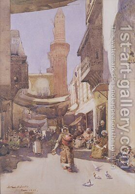 A Cairo Street 1883 by Arthur Melville - Reproduction Oil Painting