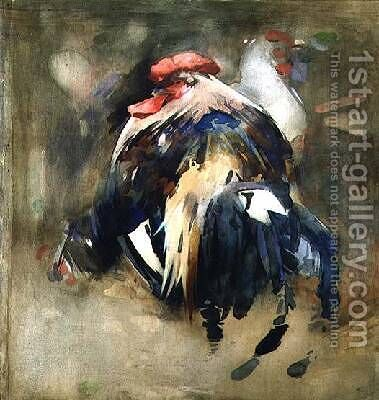 The Rooster by Arthur Melville - Reproduction Oil Painting