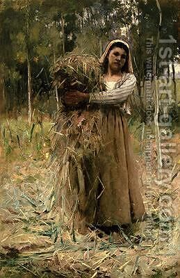 A Peasant Girl 1880 by Arthur Melville - Reproduction Oil Painting