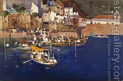 A Mediterranean Port 1892 by Arthur Melville - Reproduction Oil Painting