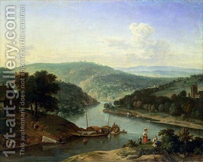 River Landscape 1697 by Jan van der the Younger Meer - Reproduction Oil Painting
