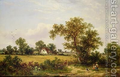 Essex Landscape by James Edwin Meadows - Reproduction Oil Painting