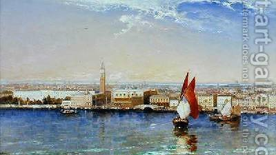 The Bacino Venice 1897 by Arthur Joseph Meadows - Reproduction Oil Painting