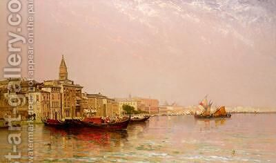 The Bacino from the Grand Canal by Arthur Joseph Meadows - Reproduction Oil Painting