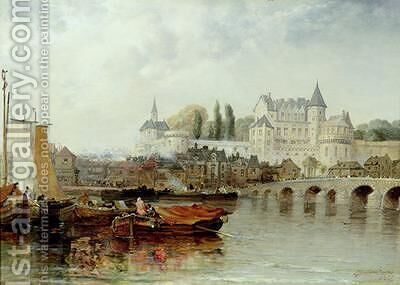 Amboise sur Loire 1889 by Arthur Joseph Meadows - Reproduction Oil Painting