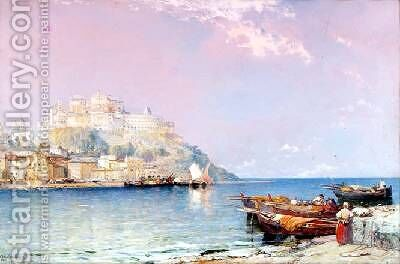 Port Maurizio on the Riviera by Arthur Joseph Meadows - Reproduction Oil Painting