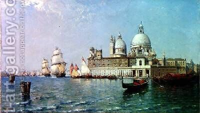 Venice Flood Tide by Arthur Joseph Meadows - Reproduction Oil Painting