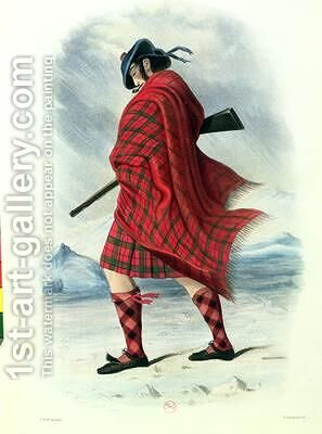 Scotsman in Highland Dress by (after) McIan, Robert Ronald - Reproduction Oil Painting