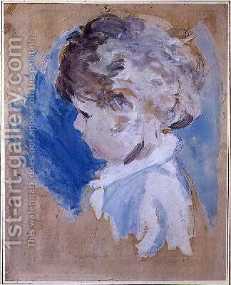 A Childs Head by Ambrose McEvoy - Reproduction Oil Painting