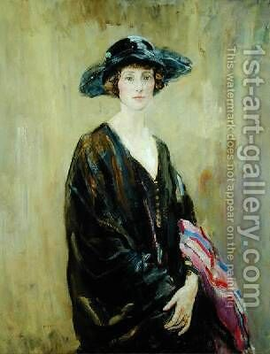 Portrait of Dorothy Una Ratcliffe by Ambrose McEvoy - Reproduction Oil Painting