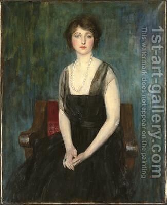 Portrait of The Hon Dorothy Burns 1920 by Ambrose McEvoy - Reproduction Oil Painting