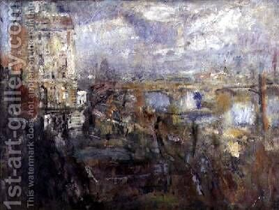 The View from the Adelphi Waterloo Bridge 1926 by Ambrose McEvoy - Reproduction Oil Painting