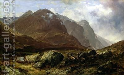 Glencoe 1864 by Horatio McCulloch - Reproduction Oil Painting