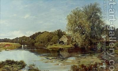 At Milton Mill on the River Irvine 1855 by Horatio McCulloch - Reproduction Oil Painting