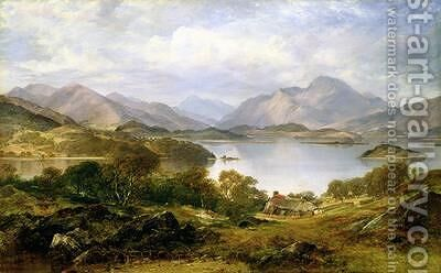 Loch Lomond 1861 by Horatio McCulloch - Reproduction Oil Painting