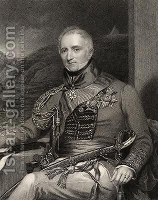 Sir Rufane Shaw Donkin engraved by W Holl from National Portrait Gallery volume III by (after) Mayer, H. - Reproduction Oil Painting