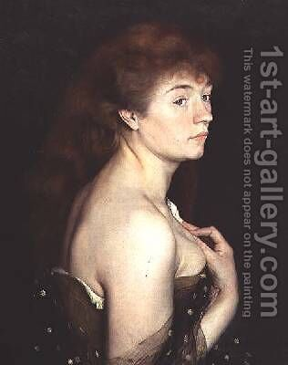 Portrait of a Young Red Haired Woman 1889 by Charles Maurin - Reproduction Oil Painting