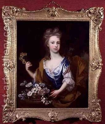 Portrait of a Young Girl by James Francis Maubert - Reproduction Oil Painting