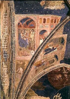 The Calling of St Martial a fisherman detail from the ceiling of the chapel of the Tinel with scenes from the life of St Martial 1344-45 by di Giovanetto da Viterbo Matteo - Reproduction Oil Painting