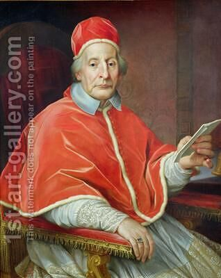 Portrait of Pope Clement XII by Agostino Masucci - Reproduction Oil Painting