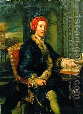 Portrait of Colonel Grey by Agostino Masucci - Reproduction Oil Painting
