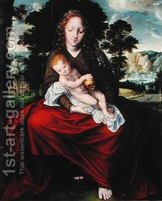 Madonna and Child by Jan Massys - Reproduction Oil Painting