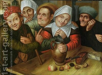 A Merry Company 1557 by Jan Massys - Reproduction Oil Painting