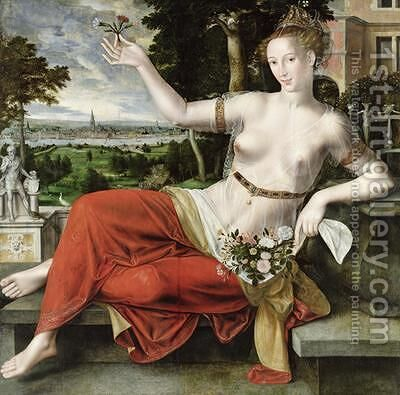Flora 1559 by Jan Massys - Reproduction Oil Painting