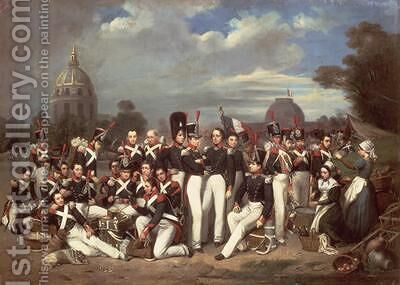 Company of the Second Legion in the Champ de Mars Paris 1836 by Auguste Antoine Masse - Reproduction Oil Painting