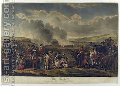 His Majesty Reviewing Troops on Blackheath 1787 etched by R Pollard by (after) Mason, W.H. - Reproduction Oil Painting